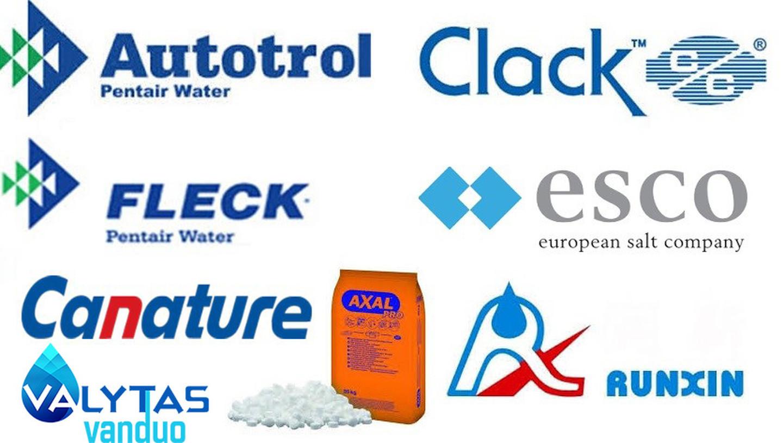 Dirbame su šiais vandens gerinimo įrangos gamintojais.