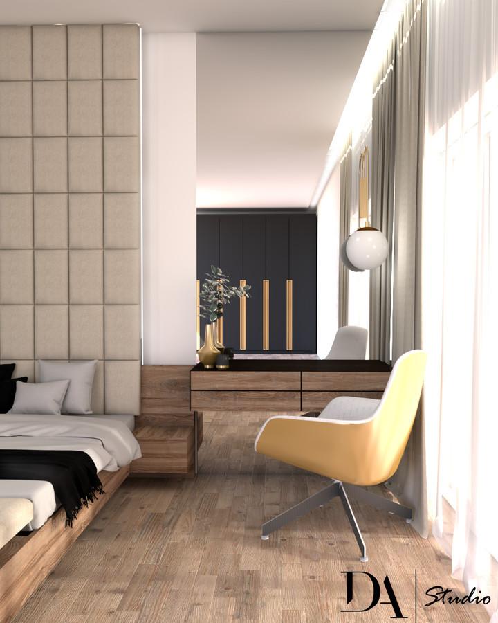 Darbo zona/ grožio staliukas miegamajame