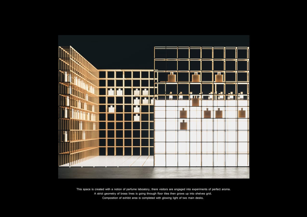Kvepalų parduotuvė Danijoje. Stadija - realizuojamas