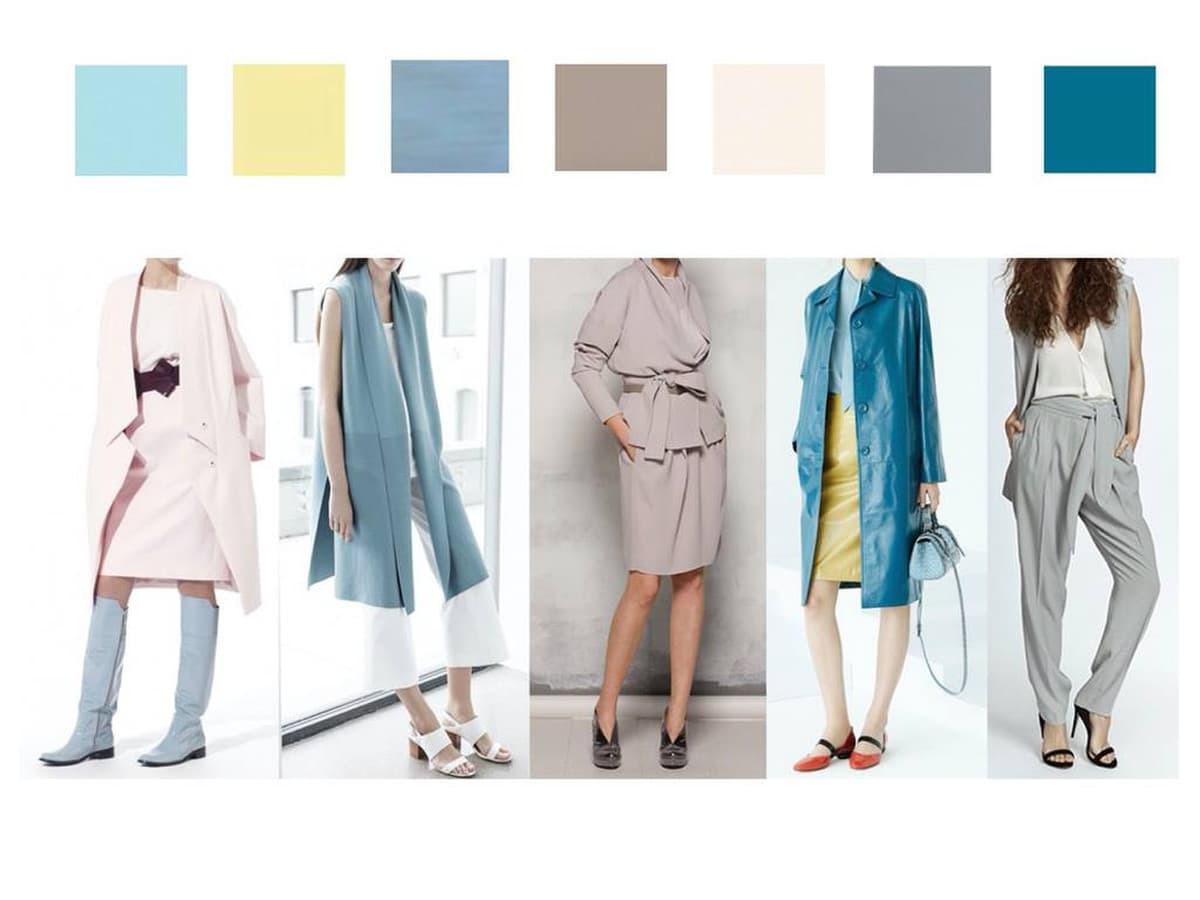 Mood board'as eskizas-koliažas, kuris supažindina klientę su būsimu įvaizdžiu: stilistika, siluetais, spalvinine gama.