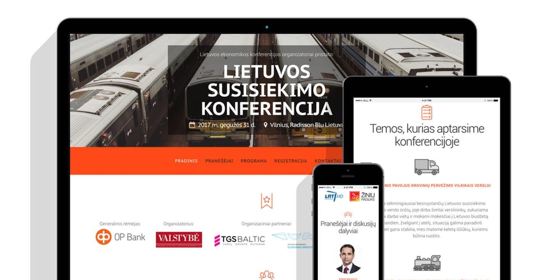 Reprezentacinė svetainė + vidinis intranetas (WWW.SUSISIEKIMOKONFERENCIJA.LT