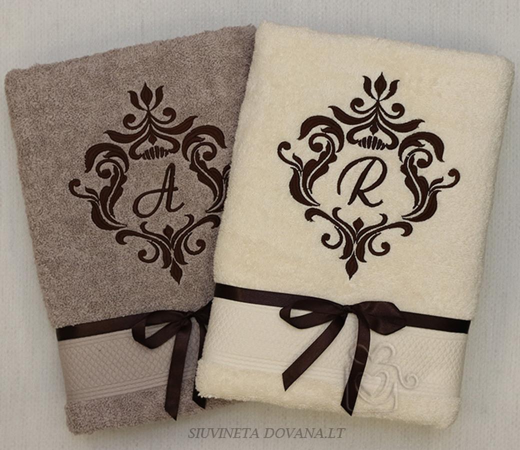Siuvinėjimas ant rankšluosčių pagal individualius užsakymus įvairioms progoms. Minimalus kiekis - 1 vnt. Turiu labai didelį kokybiškų rankšluosčių pasirinkimą.