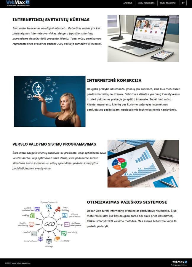 WebMax.lt - internetinė reprezentacinė svetaine