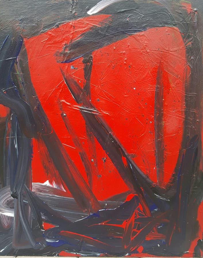 """Paveikslas """"Aistros"""" (akrilas,drobė,80x65),2017."""