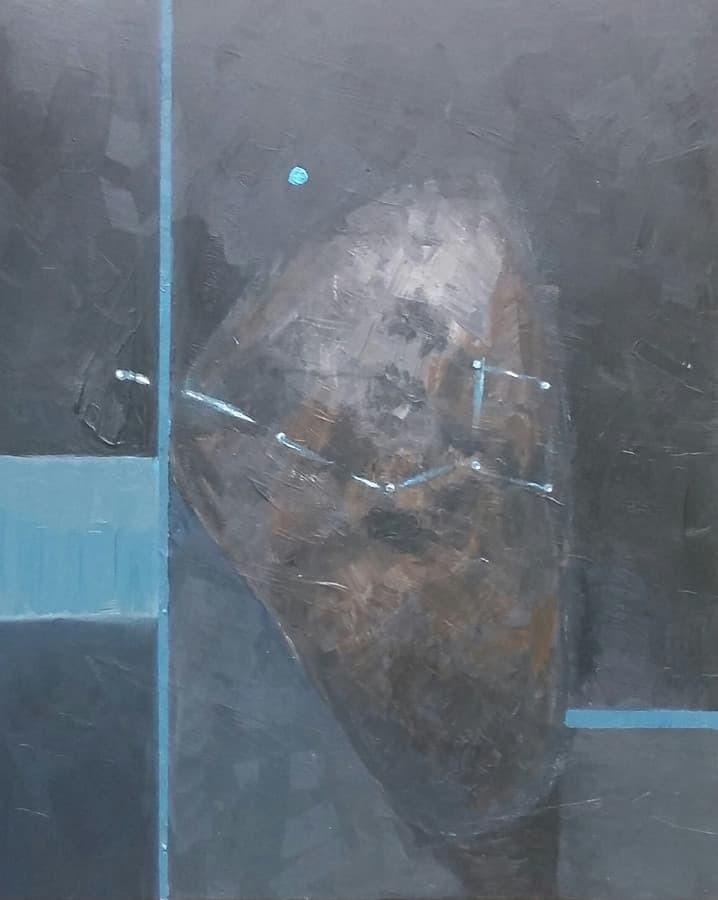"""Paveikslas """"Kosminis akmuo"""" (akrilas,drobė,90x65),2016."""