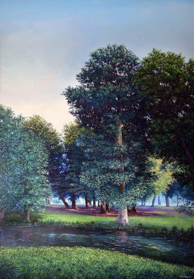 """""""Vasaros diena"""" Paveikslas tapytas ant drobės, aliejiniai dažai, dydis 100x150cm (NEPARDUOTA)"""