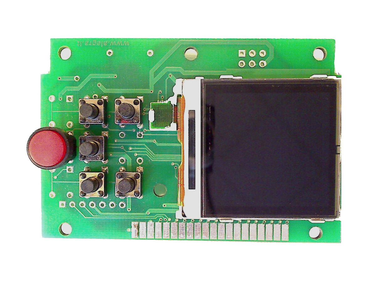 Paprastas AVR ATXmega PLC valdiklis su spalvotu LCD skirtas valdyti lokalius procesus