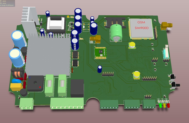 RADON monitorius ir ventiliacijos sistemos valdymas. Integruotas geigerio skaitiklis ir AC pavara tiesiogiai valdanti ventiliatorių iki 500w. Valdymas per GSM. Užsakovas Rectus DK, Danija.