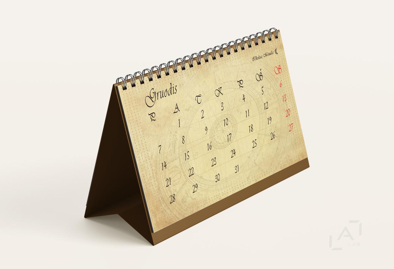 Stalinio kalendoriaus dizainas ir maketavimas.