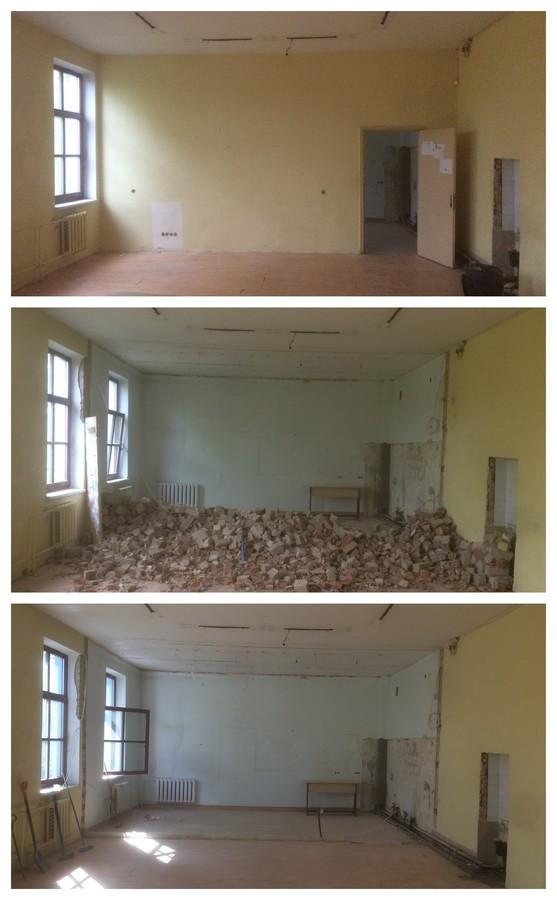 Sienų griovimas