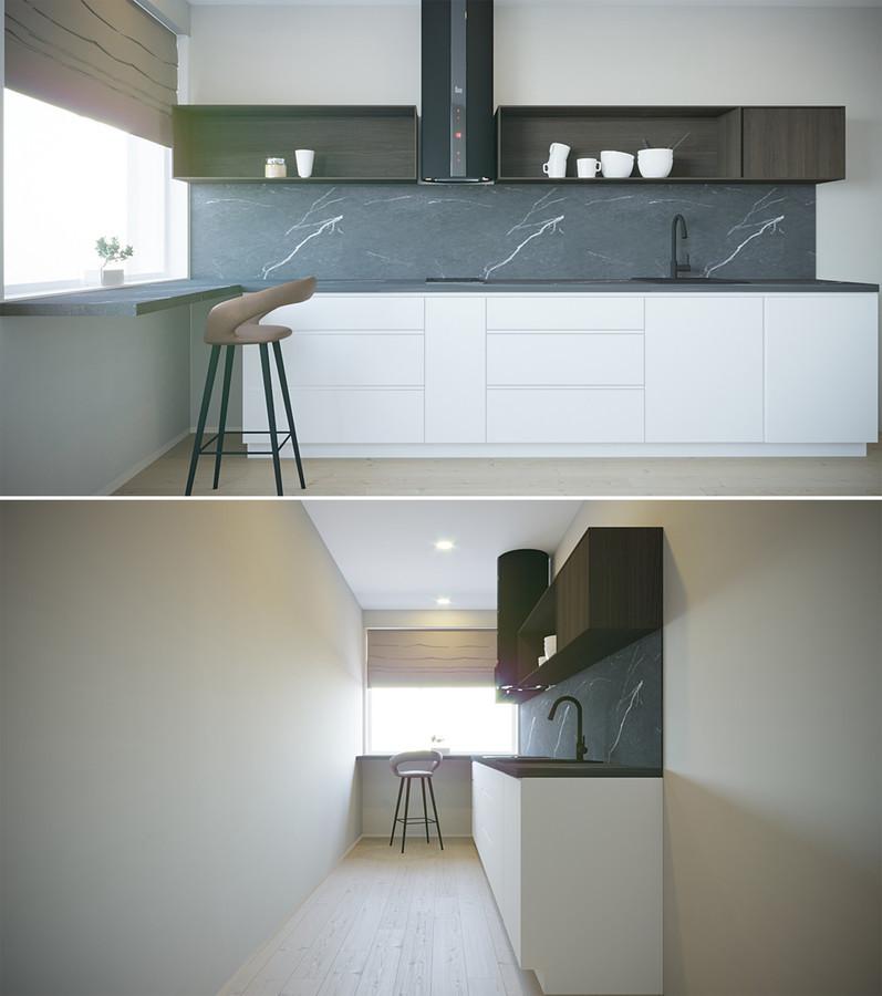 Papildoma nedidelė virtuvės zona, gyvenamojo namo 3 aukšte. Mažeikiai.