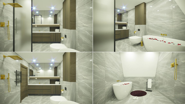Vonios kambario interjeras. Mažeikiai.