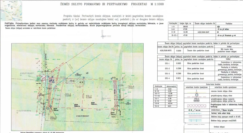 Žemės sklypų formavimo ir pertvarkymo projektas ( padalinimas)
