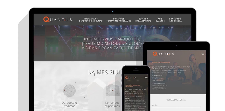 Reprezentacinė svetainė (WWW.QUANTUS.LT)
