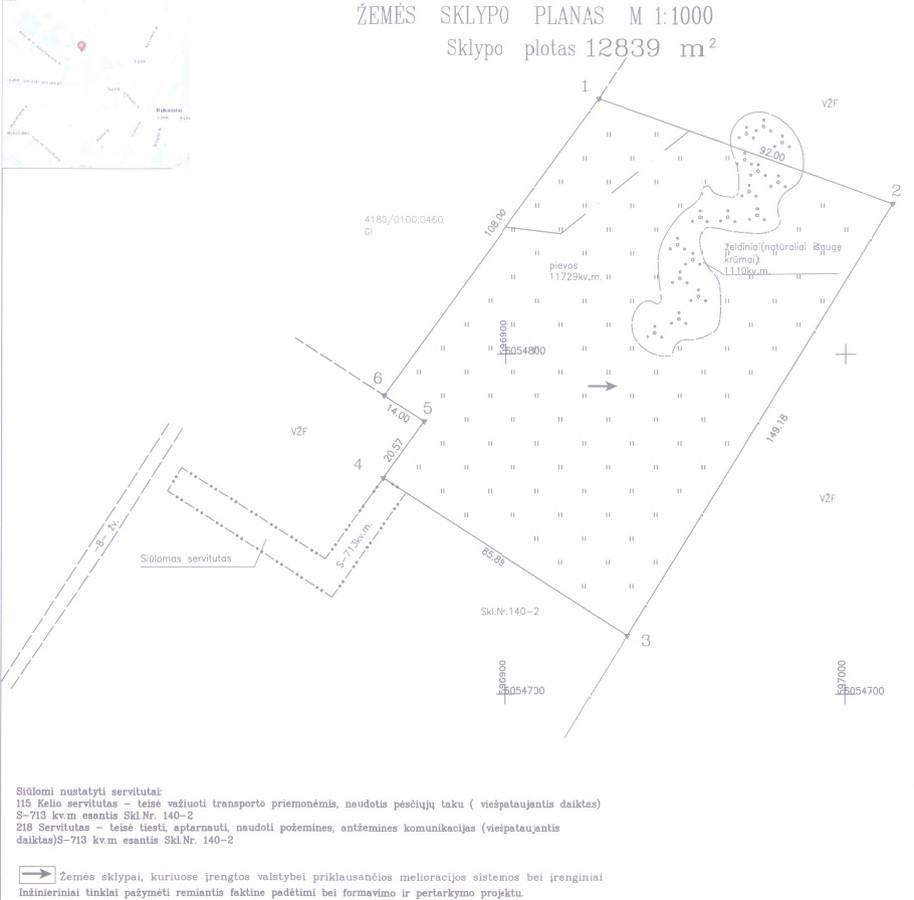parengta kadastrinė byla( žemės sklypo planas - pagrindinis bylos dokumentas) po patvirtinto formavimo ir pertvarkymo projekto