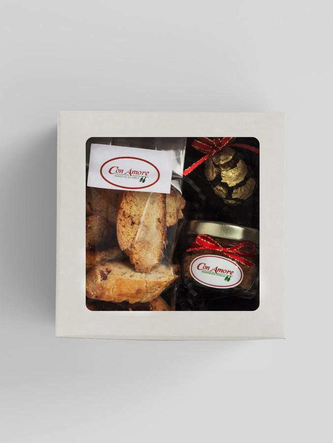 Produkto fotografija, objektas - kulinarijos dovanų rinkinys.
