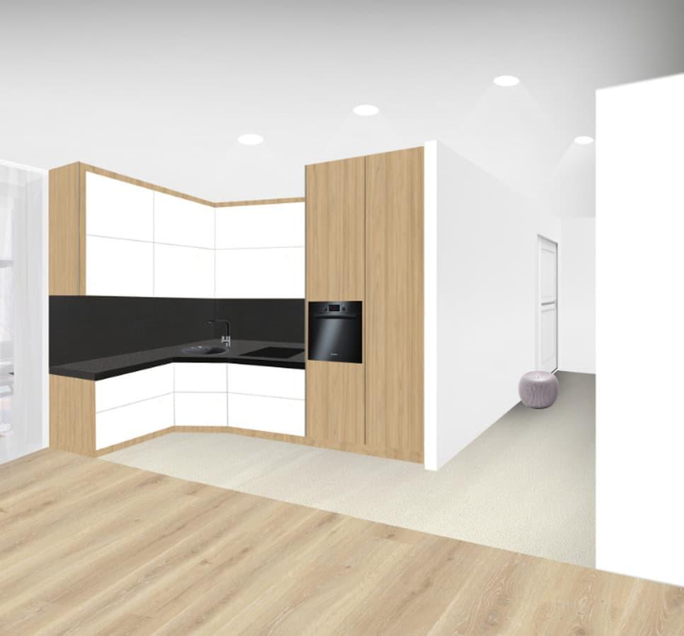 Virtuvės projektas. Mažeikiai.