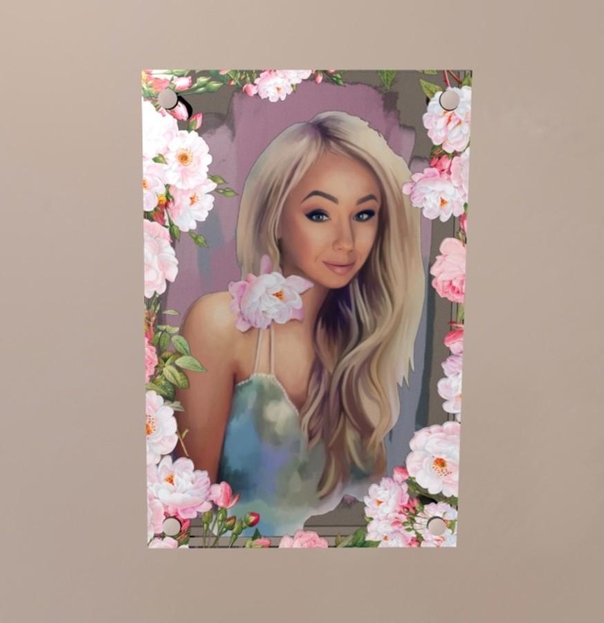 3D pasirinktinis portretas iš jūsų nuotraukos. 3D paveikslas ant akrilo plokštės pagal užsakymą 15x20 colių