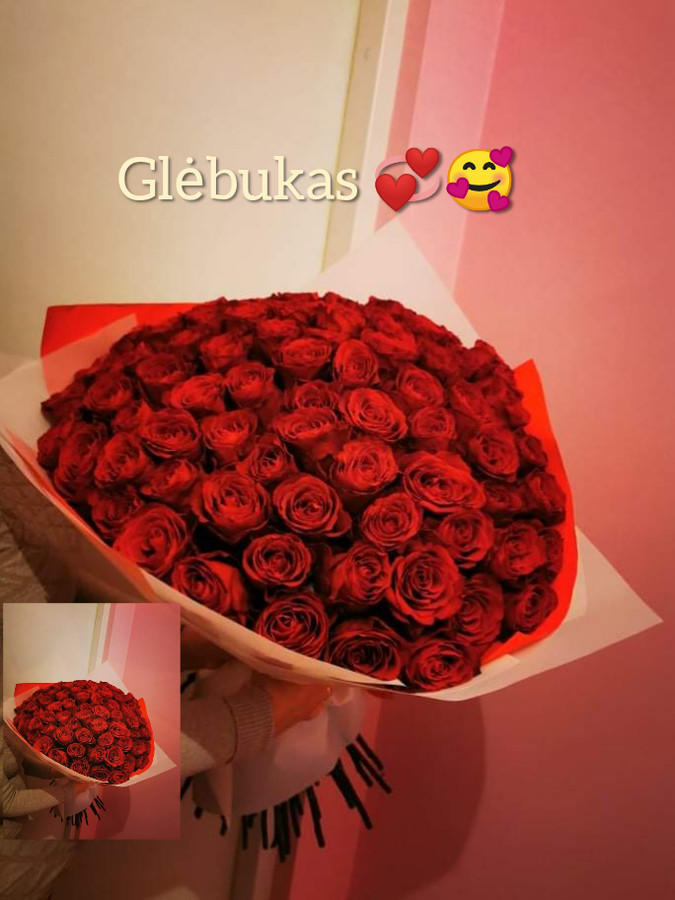 101 rožė (valentino d. Kaina 250€)