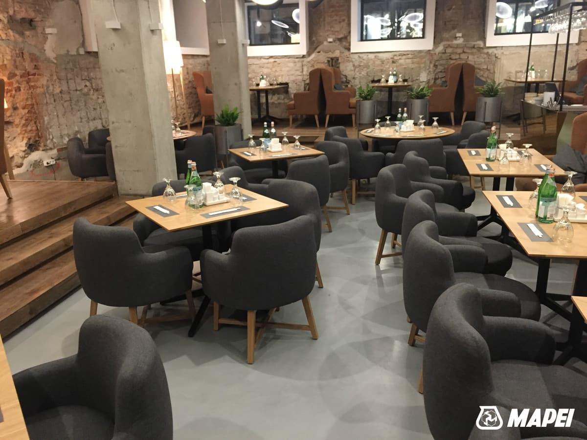 "ULTRATOP dekoratyvinio betono grindų danga. Natūralus efektas. Restoranas ""Gan Bei"" Gedimino 9, Vilnius.  http://velvemst.lt/uploads/Ultratop_LT.pdf"