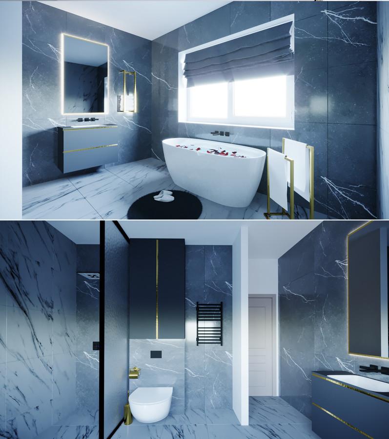 Vonios kambario interjeras. Klaipėda. Projektas nr. 2