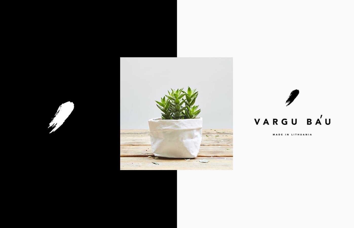 VARGU BÁU logotipas (plaunamo popieriaus gaminiai kitokiems namams). https://www.facebook.com/vargubau