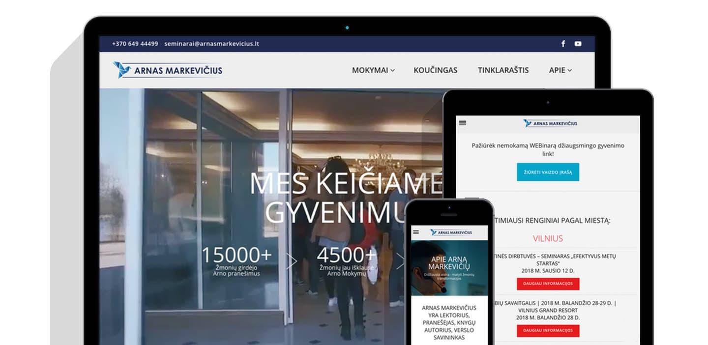 Reprezentacinė svetainė + bilietų įsigijimas (WWW.ARNASMARKEVICIUS.LT)