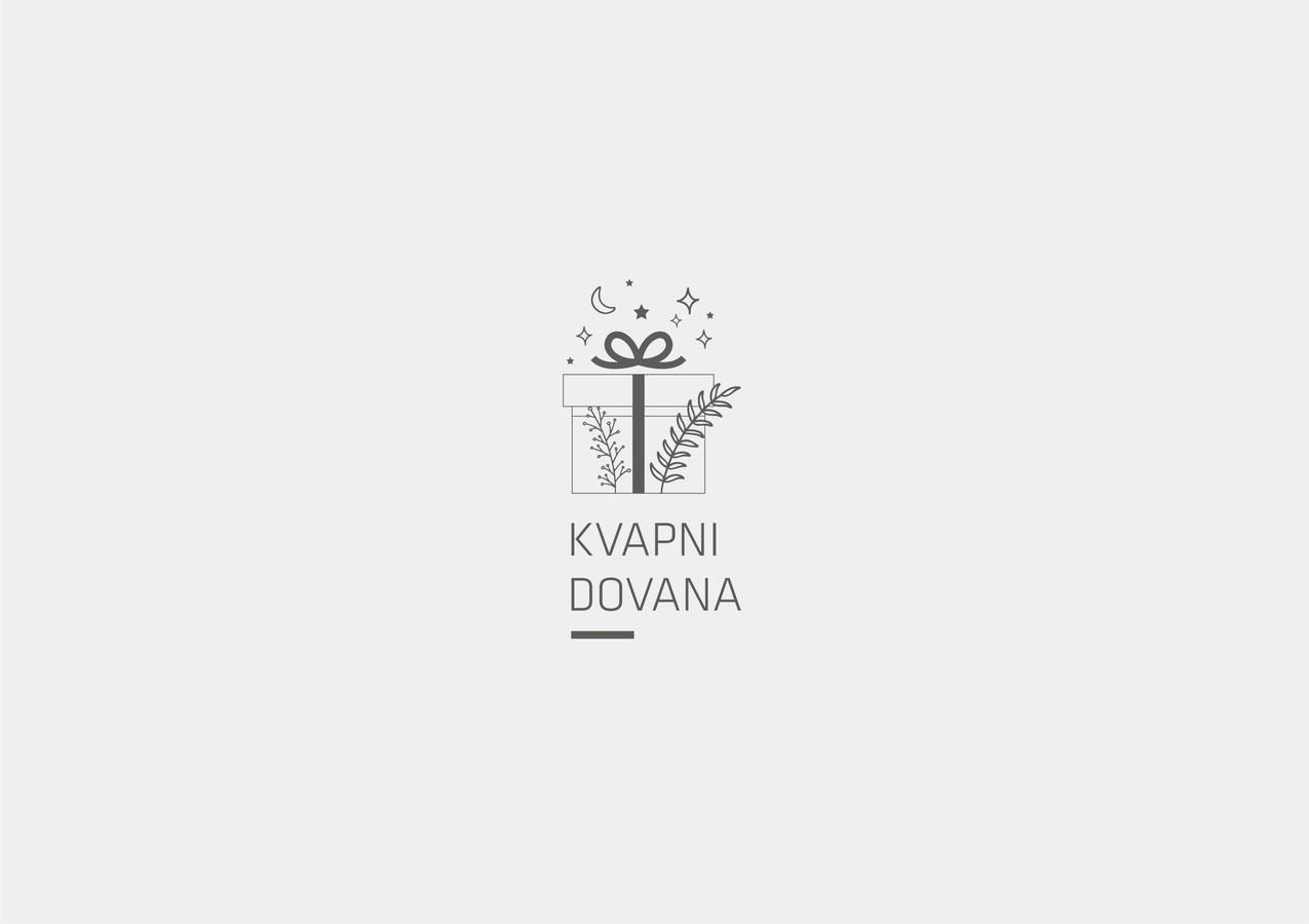 Logotipas - Kvapni Dovana, sukurtas rankų darbo muilo gaminiams
