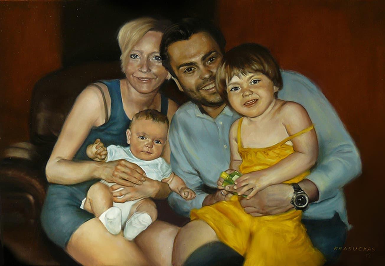 Šeimyninių portretų tapyba.