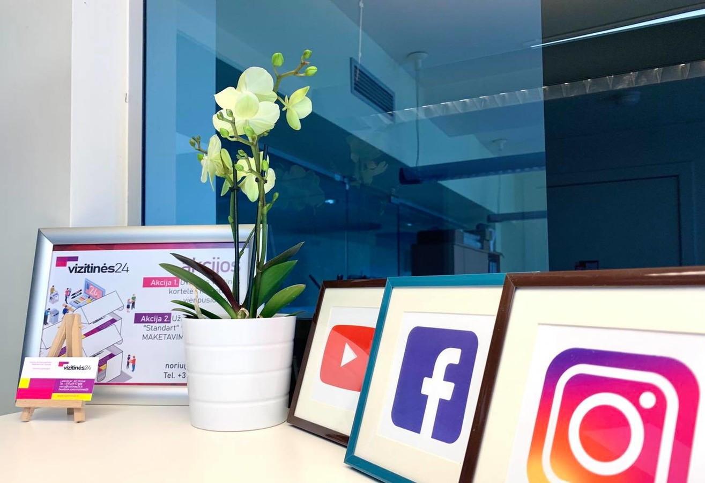 Soc. tinklų administravimas: Facebook paskyros priežiūra; Instagram paskyros administravimas.