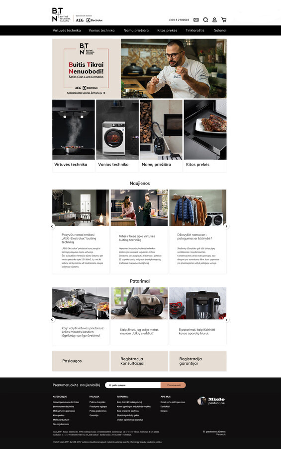 Interneto svetainės dizainas