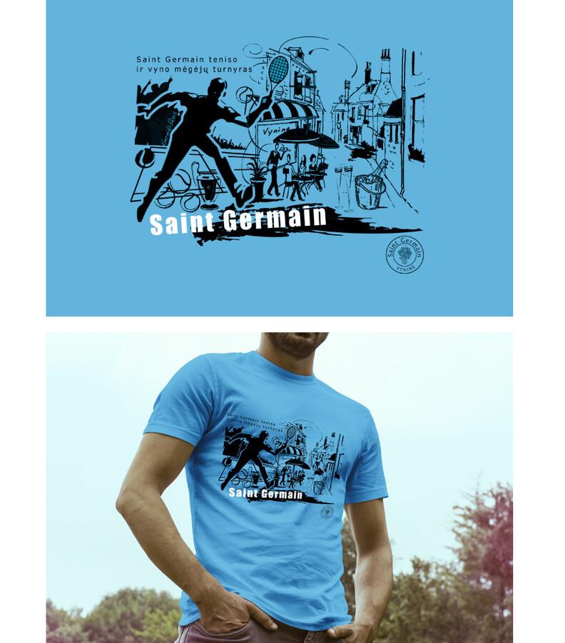 Saint Germain teniso turnyro marškinėliai