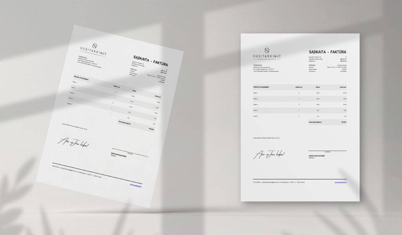 Sąskaitos faktūros dizainas