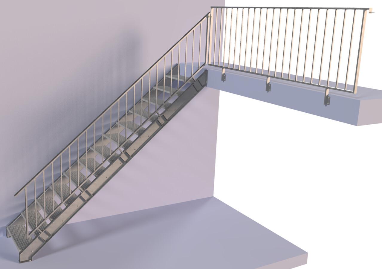Metaliniai laiptai.