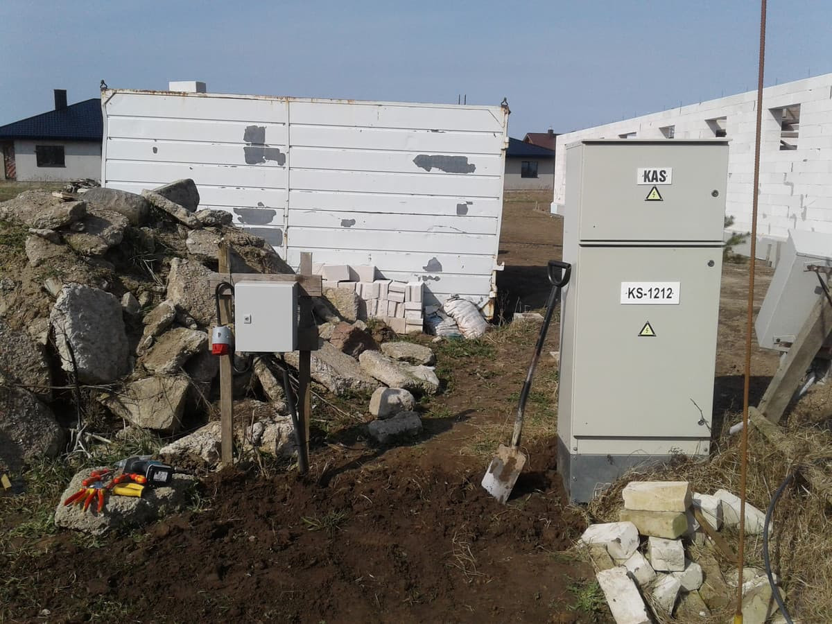Statybinis elektros skydelis
