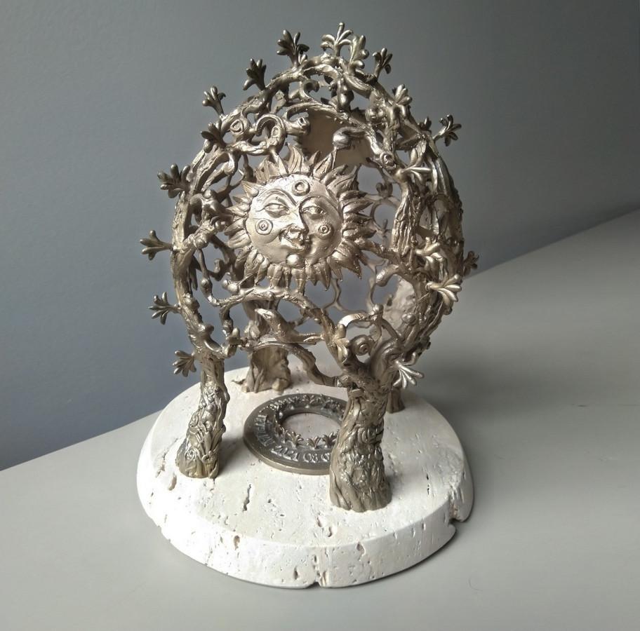 Skulptūra jaunavedžiams, aukštis 25 cm, bronza, marmuras