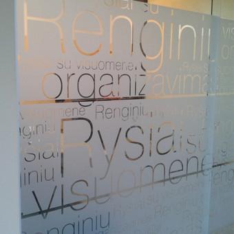 Stiklinių pertvarų dekoravimas