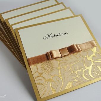 Auksinių spalvų proginis kvietimas