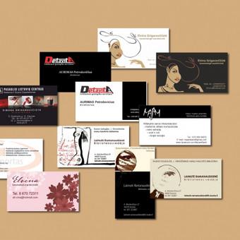 vizitinės kortelės įvairiems klientams.