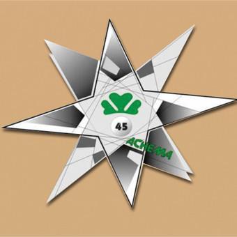"""Įvairių ženkliukų dizainas, maketas įmonei AB """"Achema""""."""