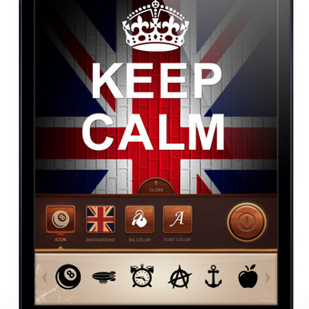 Keep Calm Ipad aplikacija