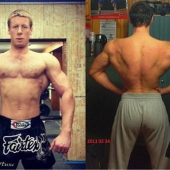 8 mėnesių mano treniruočių planu, asmeniniu treniruočių, suderintos mitybos bei maisto papildų rezultatas +16 kg liesos raumenų masės.