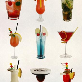 Keli kokteiliai iš 300 pasaulio mėgiamiausių