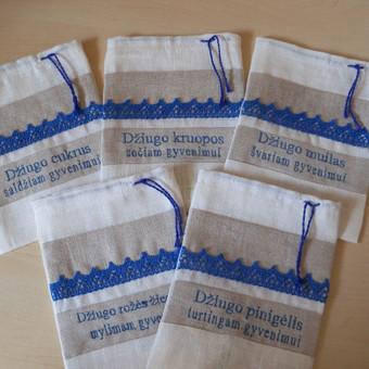 Krikštynų maišiukai, daromi pagal užsakyma - individualiai, jie yra vienetiniai.