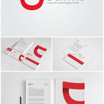 """Lazerinės odontologijos klinikos """"Danvitė"""" logotipas, bei spaudos darbai."""