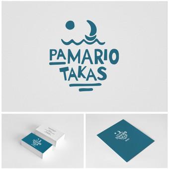"""Baro Juodkrentėje """"Pamario takas"""" logotipas, vizitinės bei meniu"""