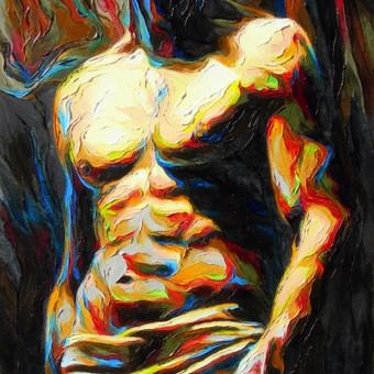 """Aliejinė tapyba ant drobės. Paveikslas """"Išdidžiai"""" 50x100cm (PARDUOTAS)"""