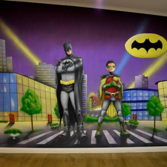 """Užsakymas """"Batman and Robin""""  Batman fano  kambaryje:)"""