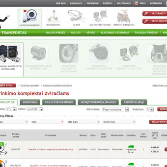 Elektrinio transporto prekių el. parduotuvė www.e-kit.eu
