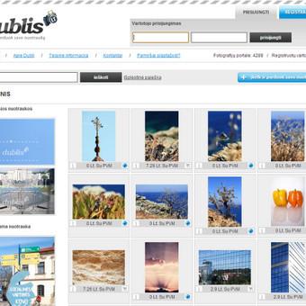Nuotraukų prekybos sistema www.dublis.lt
